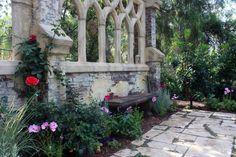 Gothic decoration in the garden.