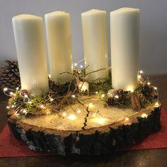 Advent Wreath, Altar Decorations, Christmas Centerpieces, Wreath Ideas, Fall Decor, Christmas Ideas, Elsa, Wreaths, Autumn