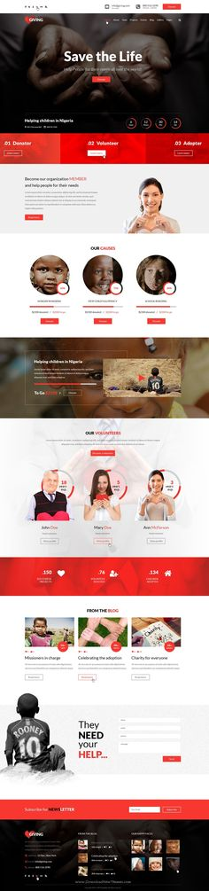Giving is beautiful PSD Template for #NGO and #Charity organization #website. Download Now!
