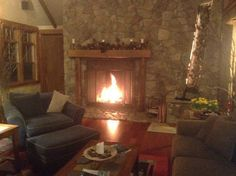 Great room fireplace #stowemeadows #vermont