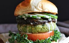 <p>In this burger, chickpeas and fava beans come together to create a succulent falafel patty</p>