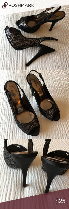 🆕Dress Shoes Perfect For Cocktail Parties Black with silver, lace, and small sequin throughout. Perfect for cocktail parties with that perfect little black dress. 4 inches. New without tags. Michael Shoes Heels