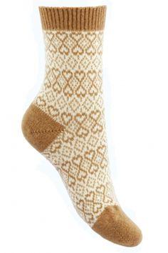 Pantherella 85% Cashmere Imogen Fair Isle Heart Socks  £26.00