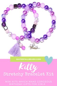 f31a01e3f A cute cat themed stretchy bracelet kit for girls aged 5yrs+. This lovely  kit would