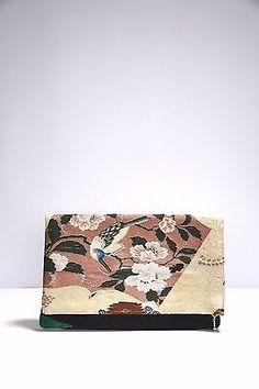 Reversible Clutch Handbag Handmade from High Grade & Obi Silk Kimono Fabric, Silk Fabric, Tokyo Guide, Vintage Kimono, Fabric Birds, Silk Thread, Vintage Colors, 1920s, Hand Weaving