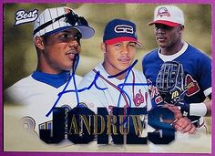1996 Andruw Jones Best Autograph Player Of the Year Card Atlanta Braves NM