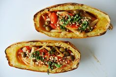 Geschmorter Fenchel mit Spaghetti-Kürbis - stärke dein Immunsystem! Pasta, Tacos, Anthony William, Mexican, Ethnic Recipes, Food, Easy Meals, Koken, Food Food