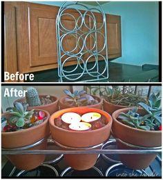 Upcycled Wine Rack Planter #gardening #decoration