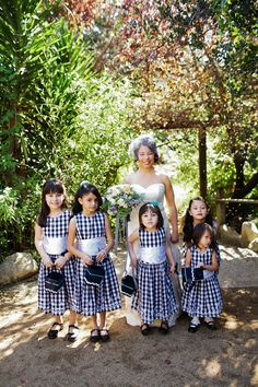 gingham flower girl dresses
