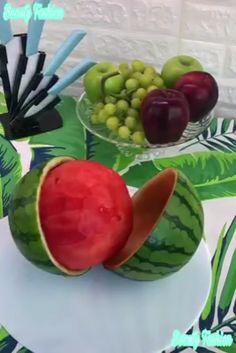 Details about PROfreshionals Melon Tap Watermelon Art, Watermelon Carving, Fruit Decorations, Food Decoration, Food Crafts, Diy Food, Fruit Presentation, Deco Buffet, Food Art For Kids
