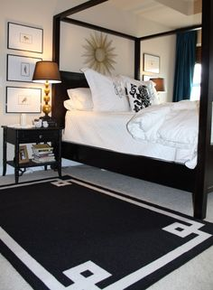 remove the canopy and throw on a black throw pillow and It's what I imagine my bed being like in my super awesome house