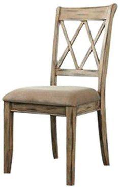 Ashley Furniture Signature Design Mestler Dining UPH Side Chair Antique White Set of 2 Regular Upholstered Seat