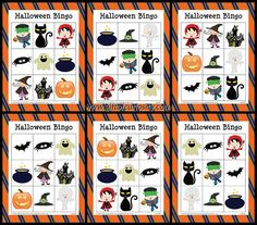 Free Halloween Bingo -has 10 cards