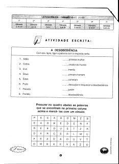 """""""Ministério Infantil """"PEQUENINOS DE CRISTO"""": ADÃO E EVA"""