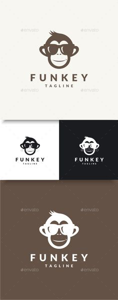 Funky Monkey  Logo Design Template Vector #logotype Download it here: http://graphicriver.net/item/funky-monkey-logo/9652941?s_rank=447?ref=nesto