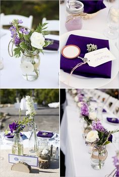 simple idea for homemade centerpieces using mason or other jars