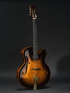 Archtop guitar, by Theo Scharpach