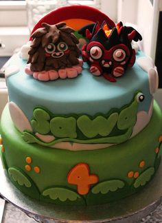 MOSHI MONSTERS  Cake by nicolalabridgeter