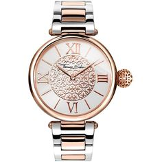Thomas Sabo Karma White Dial Two Tone Stainless Steel Bracelet Ladies... (£279) ❤ liked on Polyvore featuring jewelry, watches, leather-strap watches, stainless steel wrist watch, thomas sabo watches, rose jewelry and rose watches