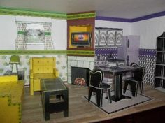Free Printables - Great Room of the Mini American Girl Dollhouse