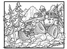 8 Best Jeep Images Jeep Jeep Drawing Coloring Pages For Boys
