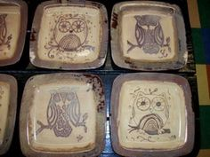 Give A Hoot Owl Plate from our Bisque & Bubbly Class