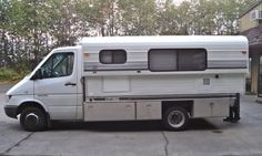 Sprinter with Alaskan Camper - Expedition Portal Cabover Camper, 4x4 Camper Van, Camper Caravan, Truck Camper, Camper Trailers, Cool Campers, Rv Campers, Custom Flatbed, Rv Homes