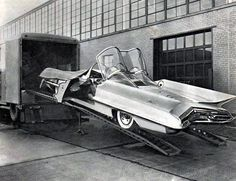Lincoln Futura. The concept car made by GHIA which has been transformed to the first Batmobile