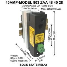 Solid State Relay and SSR Relay SSRDA DC to AC Solid State Relay
