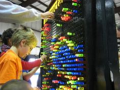 Giant Lite Brite- i would love to make one for a game room wall in our next house!