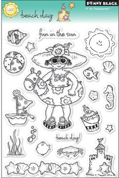 beach rubber stamps   penny black rubber stamps fish rubber stamps beach and ocean