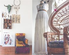Jewelry & decor by SoulMakes Large painting byHannah Adamaszek Dresses by Free People Bralettes by Spell Designs You may have heard, Trevor and I moved int