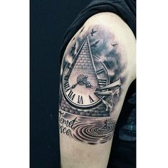 TATTOO BY DIDA  #DidaTattoo #tattooelche #tattoomurcia #tatuagem #tatuaje #tattoos #Tattoo #LD #tattooarm #arm #clock #watchtattoo #dida #tattooartist #instagram #art #birds #byebye