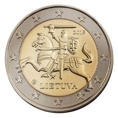 Lithuanian circulation 2 euro coin, yaer 2015.
