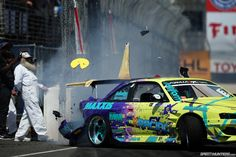 kiss the wall + pacman + beard = epic drift  photo