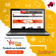 Get the #bestdeals on all products from #Yayvo Compare with other #shopping stores and buy products in lowest price. http://www.priceblaze.pk/