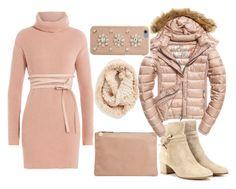 """""""Winter pink e beige"""" by dina-minichino on Polyvore featuring moda, Valentino, Clare V., Gianvito Rossi, Fuji, MICHAEL Michael Kors e La Fiorentina"""