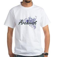 Archivist Artistic Job Design with Flowers T-Shirt on CafePress.com