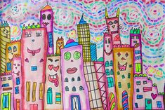 Cassie Stephens: In the Art Room: Rizzi Meets van Gogh Cities (Sub Plans!)