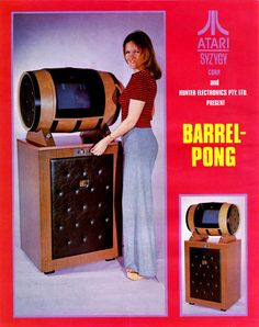 When someone suggests playing Beer #Pong, this is what I hope they mean Unfortunately, this is never what they have in mind. Atari / Syzygy Barrel Pong