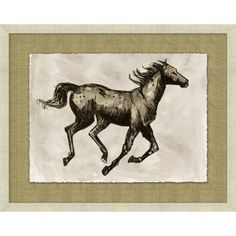 Sepia Horse Study 3 $507  Item Height  23  Item Width  29  MiY Designs - Pin your House a Home - www.miydesigns.com