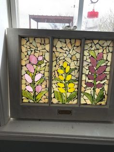 the backsplash can also seamlessly disappear into the design if you opt for a full tiled. Mosaic Windows, Stained Glass Windows, Mosaic Glass, Mosaic Tiles, Paper Mosaic, Old Windows, Window Art, Mosaic Designs, Islamic Calligraphy