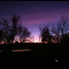 McAlester, Oklahoma sky.