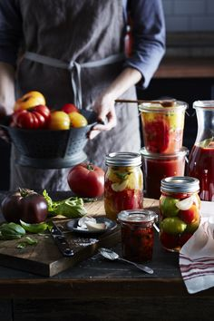 """williams-sonoma: """" Learn how to preserve the bounty of summer in our Guide to Preserving. """""""