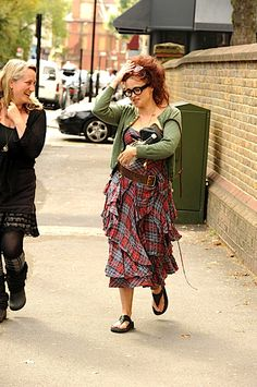 Helena Bonham Carter. Oh you know, just walking around town in my crazy clothes.