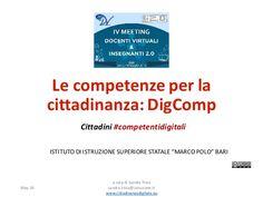 Le  competenze per  la   cittadinanza:  DigComp Cittadini #competentidigitali May  16 a  cura di  Sandra  ...