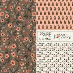 Prairie, a lovely new mini-fabric collection by Liz Ablashi for Modern Yardage | www.modernyardage.com #modernyardage #design #fabric #quilting #sewing #floral