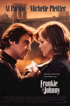 An ORIGINAL rolled movie poster for the 1991 film Frankie & Johnny starring Al Pacino, Michelle Pfeiffer, Hector Elizondo, Nathan Lane & Kate Nelligan. Written for the screen by Terrance McNally based on his own play and directed by Garry Marshall. Love Movie, Movie Stars, Movie Tv, Movies And Series, Movies And Tv Shows, Al Pacino Michelle Pfeiffer, Johnny Movie, Garry Marshall, Little Dorrit