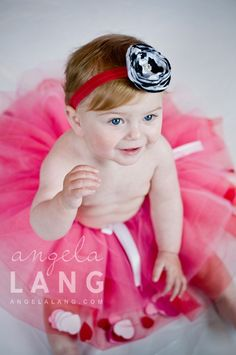 "pink red white tutu, sewn and filled, custom made newborn to 6t ""be mine"". $30.00, via Etsy."