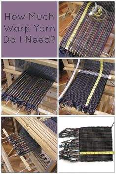 Hey Weaving Beginners! Learn how to calculate how much yarn you need, taking into account loom waste and take-up.